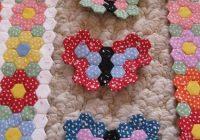 tiny butterfly garden hexagon quilt english paper piecing Cool Hexagon Quilt Patterns Designs