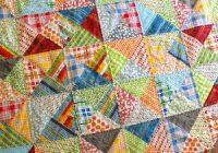 trending triangles half square triangle roundup weallsew Cozy Half Square Triangle Quilt Pattern