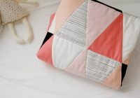 triangle quilt pattern update how to get sharp triangles Modern Quilting With Triangles
