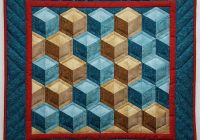tumbling blocks pattern Elegant Tumbling Block Quilt Pattern