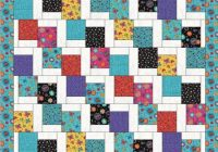tumbling charms quilt pattern farm fresh fabrics Interesting Jelly Roll And Charm Pack Quilt Patterns Inspirations
