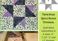twinkle twinkle twin star quilt block 6 7 12 9 and 12 Modern Quilt Block Patterns By Size Gallery