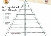 Unique 60 degree 85 inch triangle ruler quilt in a day Elegant Triangle Quilt Template