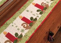 Unique christmas candle table runner pattern 9 Cool Table Runner Quilting Patterns Gallery