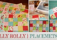 Unique free jelly roll quilted placemat pattern beginners 9 Elegant Easy Quilted Placemat Patterns