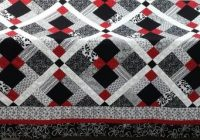 Unique queen size quilt pattern red black and white quilt disappearing nine patch New Black And White Quilt Patterns