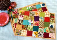 Unique quilted placemat tutorial peek a boo pages Modern Pattern For Quilted Placemats Gallery