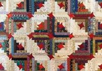 Unique stars make this scrappy log cabin quilt special quilting 9   Scrappy Log Cabin Quilt Pattern