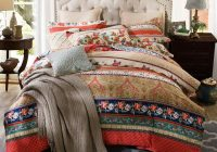 Unique us 6011 43 offbrushed cotton heavyweigh warm bedding set twin queen king size boho vintage duvet cover with zipper bed sheet set 9 New Vintage Quilt Cover Gallery