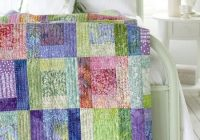use soft batik fabrics in this easy sew bed sized quilt Unique Batik Quilt Patterns Easy Inspirations