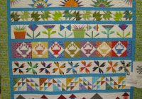 use your favourite blocks for a row row quilt quilts Row By Row Quilt Patterns Inspirations