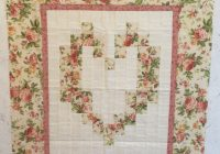 victorian floral watercolor heart quilted wall hanging Stylish Watercolor Heart Quilt Pattern