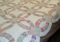vintage 1930s hand sewn double wedding ring quilt 85 x 85 Hand Sewn Quilt Patterns