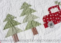 vintage christmas quilt pattern confessions of a homeschooler Cozy Vintage Christmas Quilt