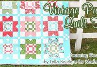 vintage picnic quilt kit featuring gooseberry from moda Unique Moda Vintage Picnic Quilt Gallery