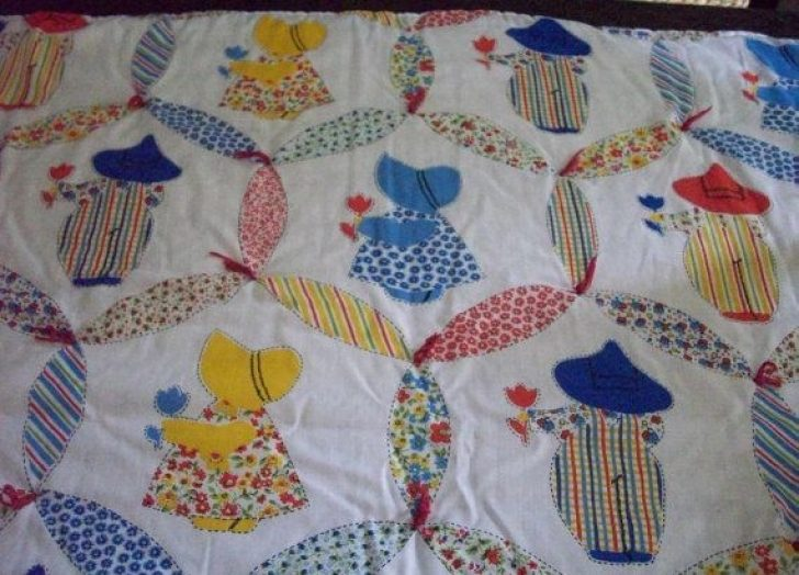 Permalink to Modern Vintage Sunbonnet Sue Quilt