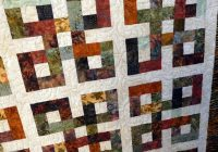 waste knot batik quilt reduced batik quilts scrappy Stylish Waste Knot Quilt Instructions