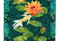 water lilies koi pattern cleos designs quilts Interesting Water Lily Quilt Pattern Inspirations