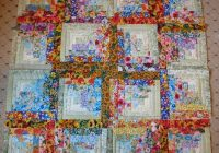 watercolor log cabin blocksbeautiful i really want to Cozy Watercolor Quilt Patterns Gallery