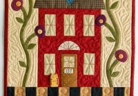 welcome home wall hanging quilt pattern buttons and bees Quilt Wall Hangings Patterns Inspirations