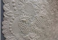 white whole cloth quilt from 1750 1800 france posted at Interesting Wholecloth Quilt Patterns Gallery