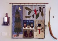 winter seasonal quilted wall hanging paper pattern Seasonal Quilted Wall Hanging Patterns