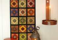 wool applique pattern wall hanging amish quilt penny rug dolly hand dyed rug hooking wool felt primitive felted wool quilt block quilting Modern Felted Wool Quilt Patterns Gallery