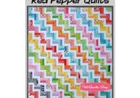 zig zag rail fence downloadable pdf quilt pattern red pepper Unique Zig Zag Rail Fence Quilt Pattern Inspirations