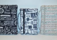 zippered bible cover sewing pattern diy Stylish Quilted Bible Cover Patterns Gallery