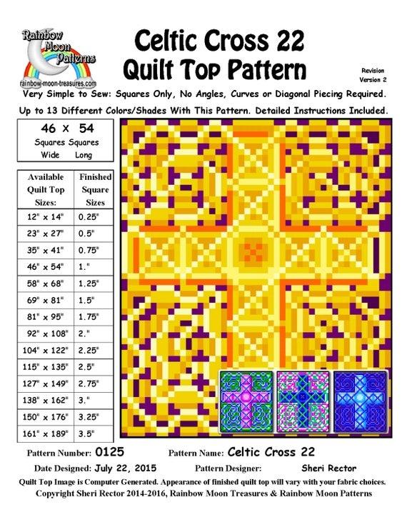 0125 celtic cross 22 quilt pattern Modern Celtic Cross Quilt Pattern Gallery