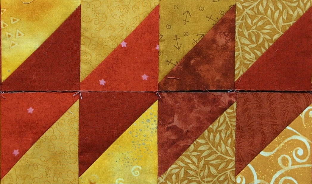 10 border designs made with half square triangles part 1 Interesting Triangle Quilt Border Pattern Gallery