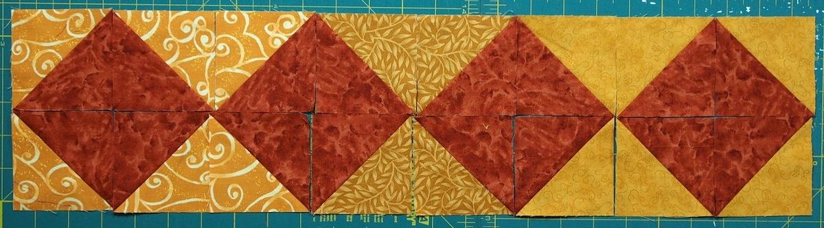 10 border designs made with half square triangles part 2 Elegant Half Square Triangle Quilt Borders