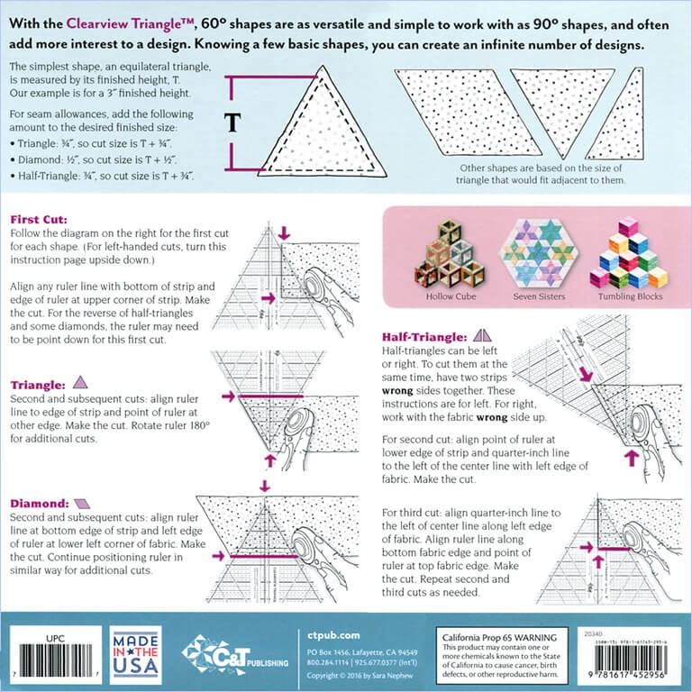 10 clearview triangle 60 acrylic ruler Unique Triangle Ruler For Quilting