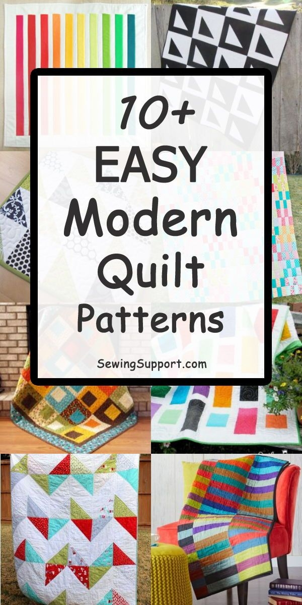 10 easy and free modern quilt patterns simple enough for Unique Simple Modern Quilt Patterns