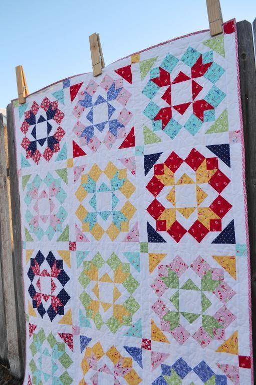 10 modern flower quilt patterns youll love Cozy Flower Quilt Block Patterns