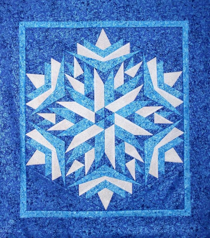 10 snowflake quilt patterns that will warm your heart Cool Snowflake Quilting Pattern