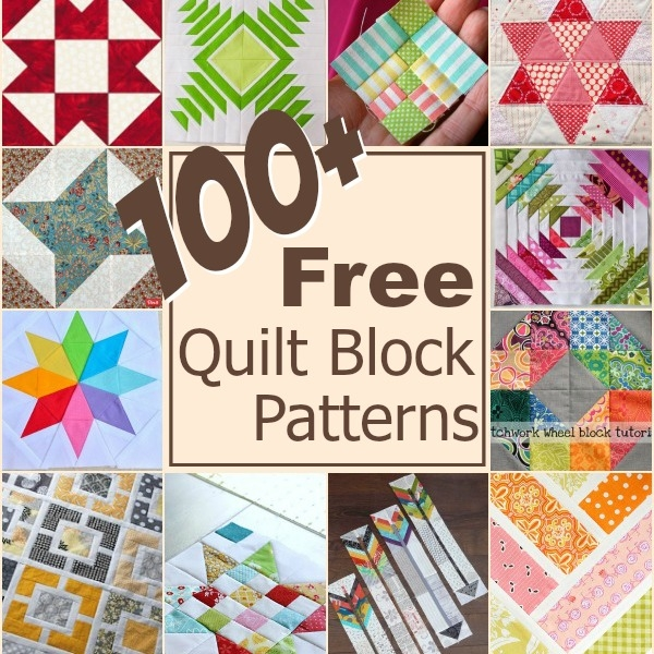 100 free quilt blocks the sewing loft Modern Patchwork Quilt Blocks Patterns Inspirations