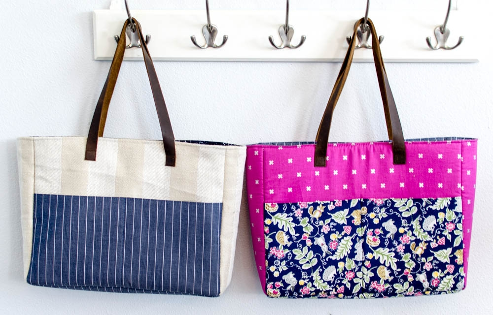 14 free tote bag patterns you can sew in a day plus tips Unique Quilted Purses And Handbags Patterns Gallery