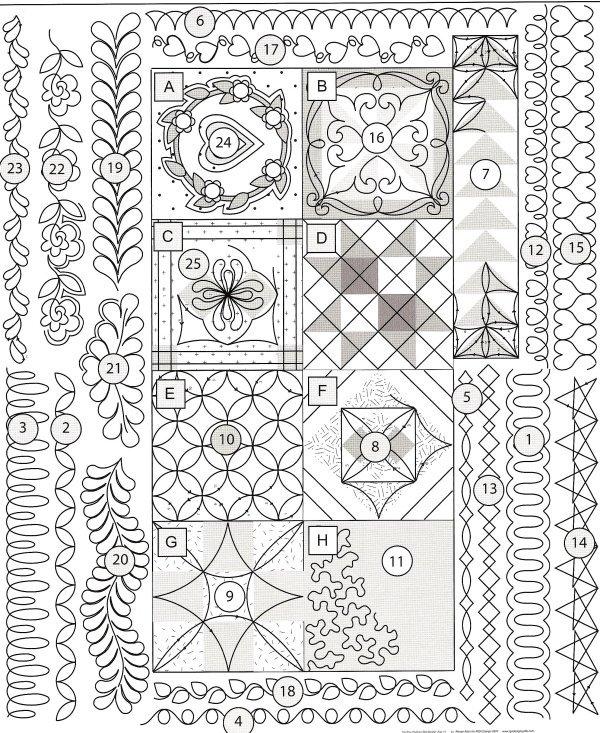 15 free machine quilting designs patterns images machine Cool Quilting Design Patterns Gallery