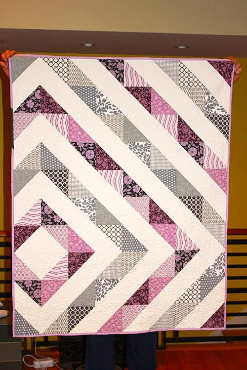 18 easy ba quilt patterns to make for your pregnant Interesting Quilt Patterns For Babies Inspirations