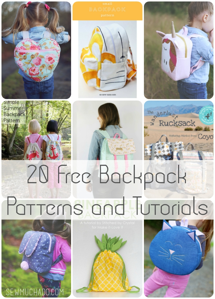 20 free backpack patterns and tutorials sew much ado Cozy Quilted Backpack Pattern Gallery