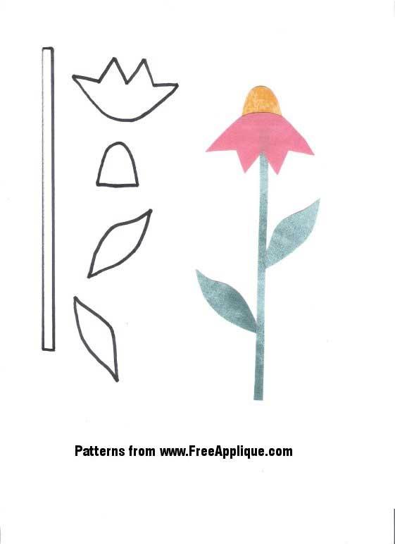 23 flower patterns freeapplique Modern Flower Applique Quilt Patterns Inspirations