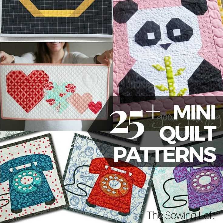 25 free mini quilt patterns the sewing loft Interesting Miniature Quilt Block Patterns Inspirations