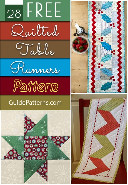 28 free quilted table runners pattern guide patterns Stylish Quilted Table Runner Pattern Inspirations