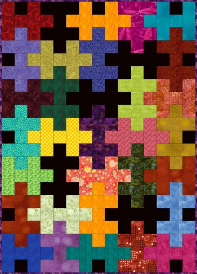 29 easy quilt patterns for beginning quilters easy jigsaw Elegant Jigsaw Puzzle Quilt Pattern Gallery