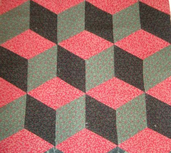 3 d quilt blocks quilting optical illusions Interesting Three Color Quilts Blocks
