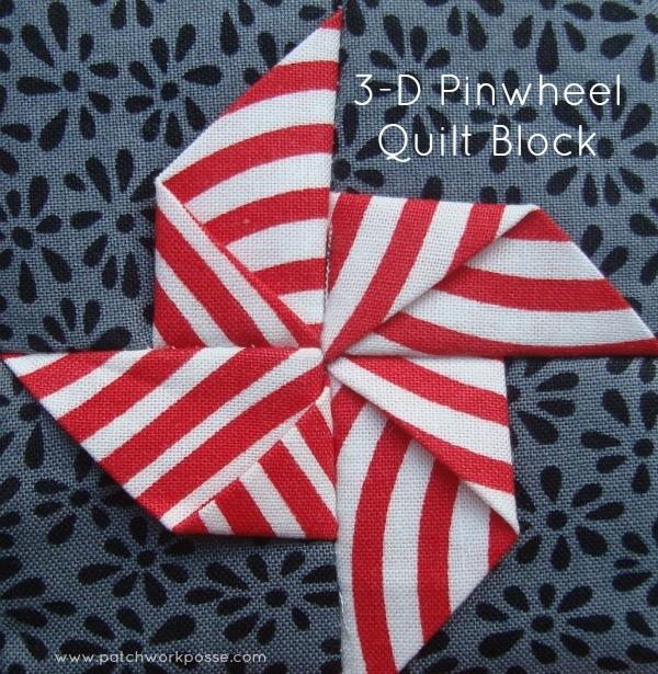 3 dimensional pinwheel quilt block patchwork posse Interesting Windmill Quilt Block Pattern Gallery