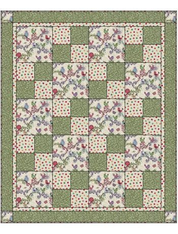 3 yard quilt patterns free quilt top right click on image Cool Quilt Patterns Using 3 Fabrics Gallery