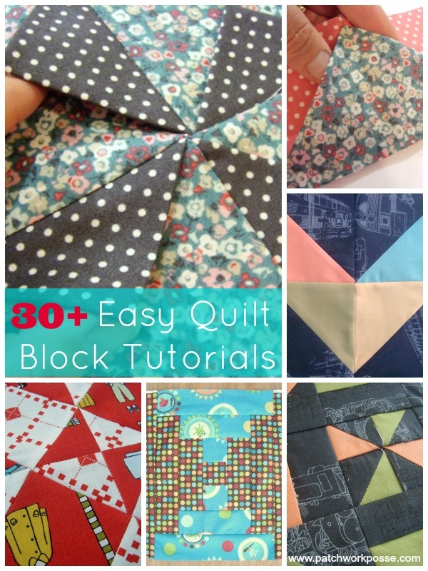 30 easy quilt block tutorials Cozy Block Quilt Patterns For Beginners Gallery
