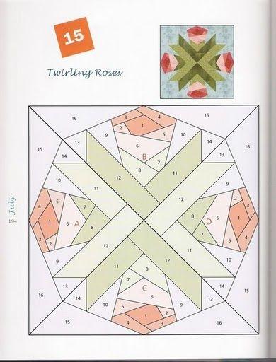 365 foundation quilt blocks christine pages lbuns da Cozy Foundation Quilt Patterns Inspirations